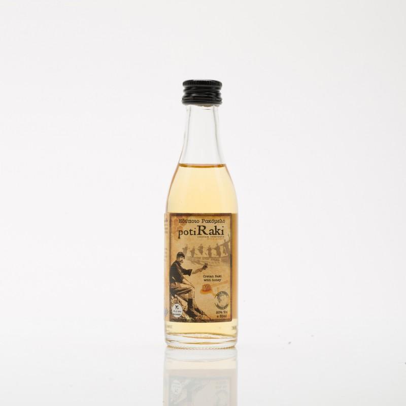 Ρακή με μέλι ρακόμελο PotiRaki 50ml