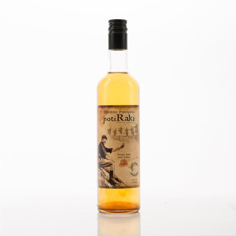 Ρακή με μέλι ρακόμελο PotiRaki 500ml