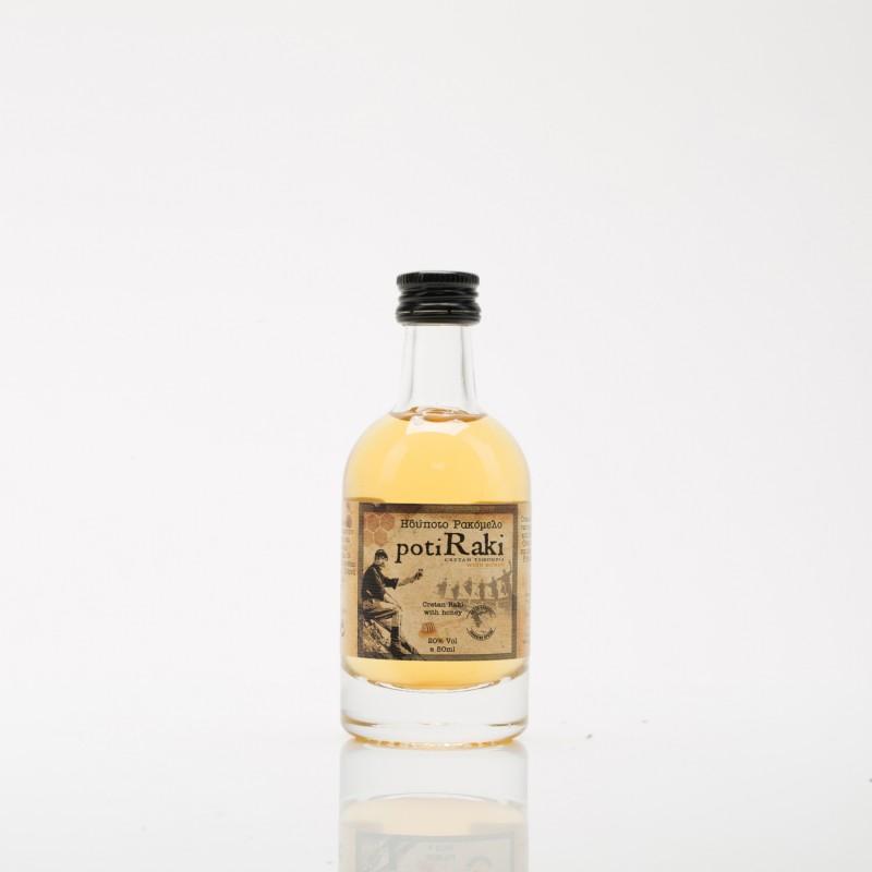 Ρακή με μέλι ρακόμελο PotiRaki 50ml σε φιάλη πολυτελείας