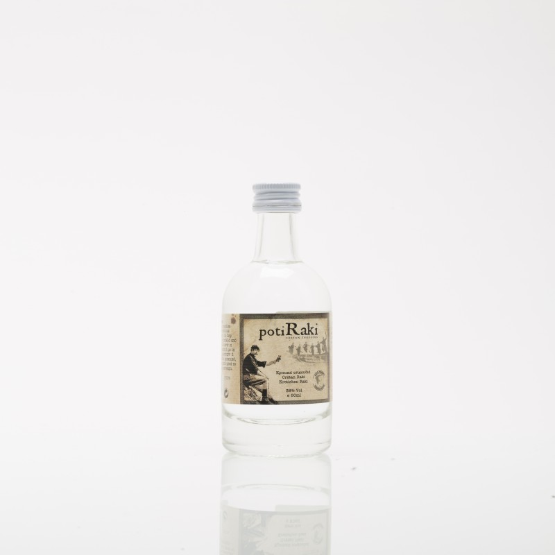 Tsikoudia or raki PotiRaki 50ml in a luxury bottle