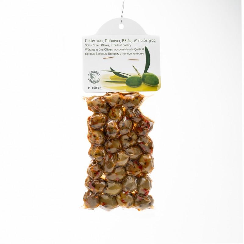 Ελιές Α΄ Ποιότητας 150gr Πράσινες Πικάντικες