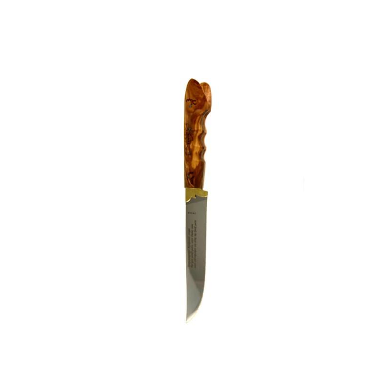Κρητικό χειροποίητο μαχαίρι με εγγύηση και λαβή από ξύλο ελιάς (31 εκ., λάμα 3 χιλ.) Ν8