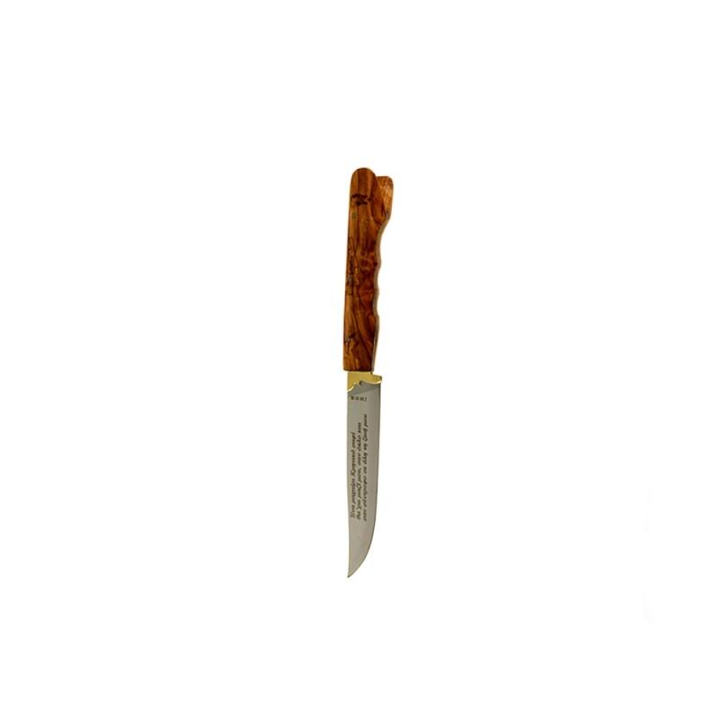 Κρητικό χειροποίητο μαχαίρι με εγγύηση και λαβή από ξύλο ελιάς (21,5 εκ., λάμα 2 χιλ.) Ν4